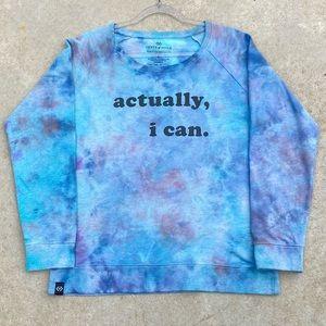 CUSTOM Color Tie Dye Graphic Empower Sweatshirt  L
